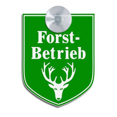 Forstbetrieb - Hinweisschild für Fahrzeuge