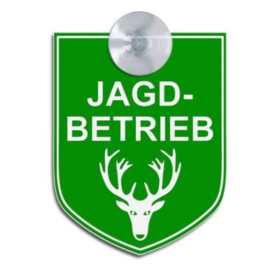 JAGDBETRIEB - Hinweisschild für Fahrzeuge