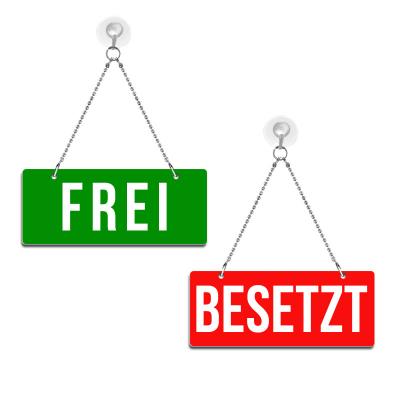 Frei / Besetzt - Graviertes Wendeschild - rot/grün