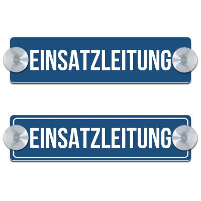 EINSATZLEITUNG - 200x50mm - Blau