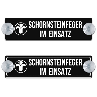 Schornsteinfeger 3.0 mit Motiv - 200x50mm