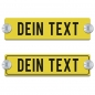 Mobile Preview: Dein Text - 200x50mm, Gelb