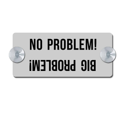 No Problem - Big Problem! - silber matt